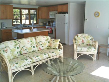 Bourne Cape Cod vacation rental - Living Room and Kitchen