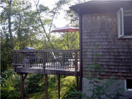 Wellfleet Cape Cod vacation rental - Deck facing Southwest
