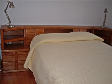 Wellfleet Cape Cod vacation rental - 2nd Bedroom with built-in headboard & underbed drawers