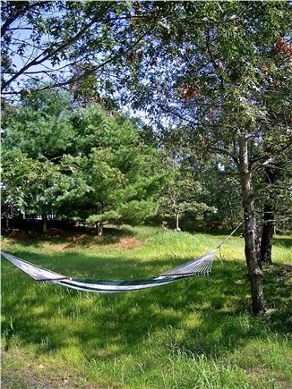 Brewster, Blueberry Pond Cape Cod vacation rental - Large yard, hammock, sandbox....breathe...