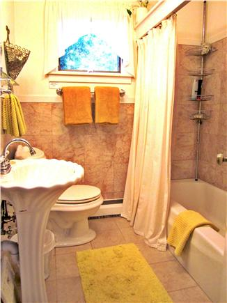 Brewster, Blueberry Pond Cape Cod vacation rental - Main bath plus a palatial outdoor shower outside accomodates all.