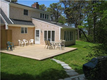 North Chatham Cape Cod vacation rental - Back yard (screened-in porch / deck / shower / grill)