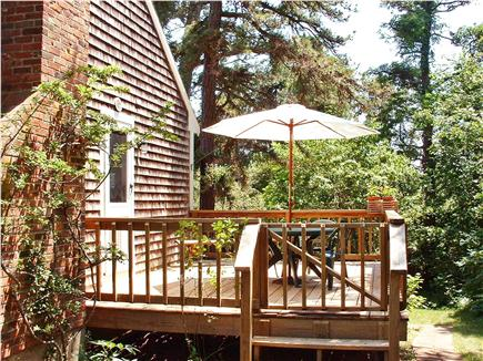 East Brewster Cape Cod vacation rental - Enjoy the birds and rhododendrons from lovely deck
