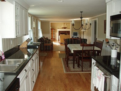 West Harwich Cape Cod vacation rental - Open floor plan from kitchen to living room