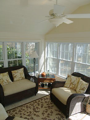 West Harwich Cape Cod vacation rental - Sunroom has screens all around - great for morning coffee/paper
