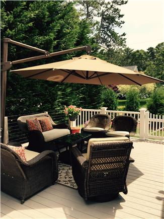 West Harwich Cape Cod vacation rental - New very large deck added 2015