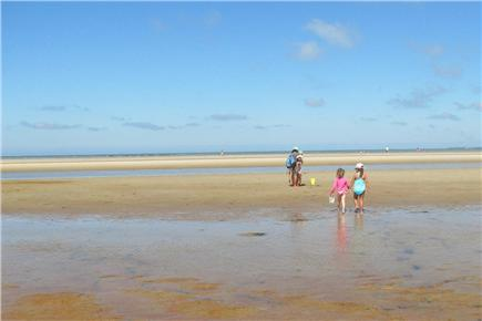 South Orleans Cape Cod vacation rental - Low tide at Skaket beach (Cape Cod Bay)