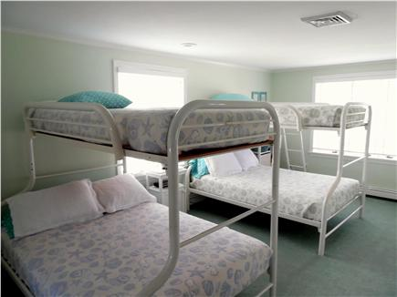 Barnstable Village Cape Cod vacation rental - Fun kids' room - double beds on bottom, twin beds on top bunks