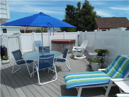 Barnstable Village Cape Cod vacation rental - Sunbathe on the wonderful, private, outdoor deck with hot tub.