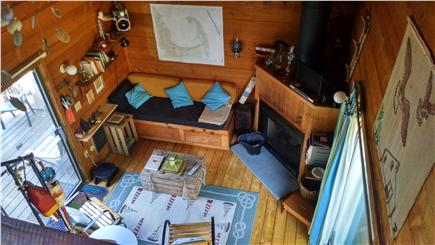 South Wellfleet Cape Cod vacation rental - Living Area from Loft