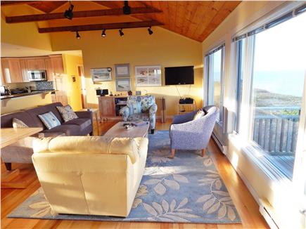 Truro Cape Cod vacation rental - Living room with view