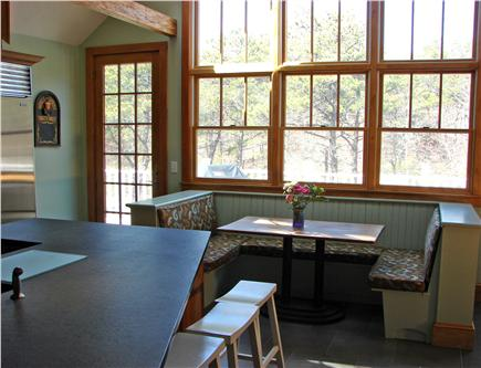Truro Cape Cod vacation rental - Kitchen dining area with sunny views of deck