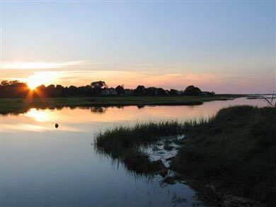 Barnstable Village Cape Cod vacation rental - Magnificent sunsets from the west-facing deck and backyard