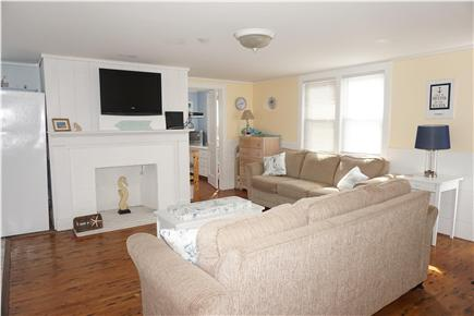West Dennis Cape Cod vacation rental - Family room with two sofas and flat screen TV
