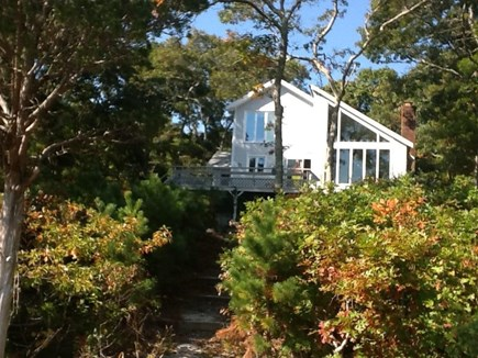 Falmouth, Waquoit Bay Cape Cod vacation rental - Rear of house from walkway