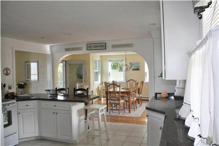 Plymouth MA vacation rental - Kitchen with ocean view and open to dining and living area
