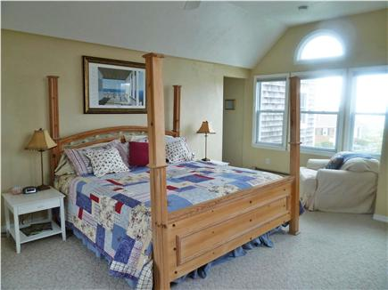 Plymouth MA vacation rental - Master Bedroom with cathedral ceiling and ocean view