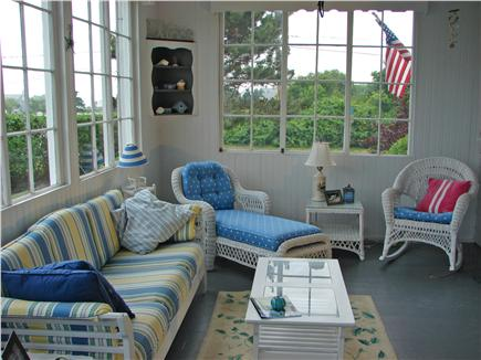 West Yarmouth Cape Cod vacation rental - Charming and bright sun room with ocean views