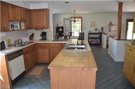Wellfleet Cape Cod vacation rental - Kitchen with attached dining room- Seats 8-10