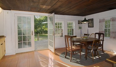 'The Back Woods,'  Wellfleet Cape Cod vacation rental - Dining room looking to deck
