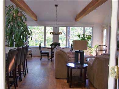 Chatham Cape Cod vacation rental - Front Entry into Great Room with a Cathedral Ceiling