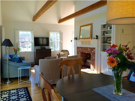 East Brewster  Blueberry Pond Cape Cod vacation rental - Living Room now with new 40 inch LED TV