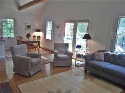 East Brewster  Blueberry Pond Cape Cod vacation rental - Open floor plan to the dining room