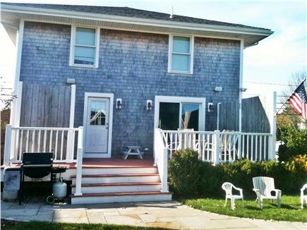 Hyannis Cape Cod vacation rental - Deck with outdoor shower, Patio & Grill