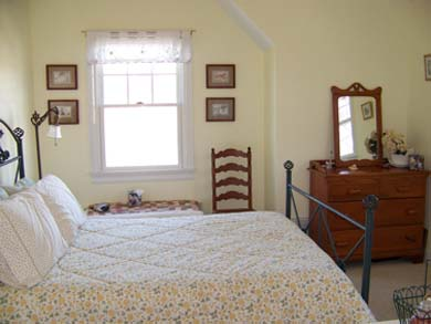 Mashpee Cape Cod vacation rental - Bedroom with full size bed also offers water views