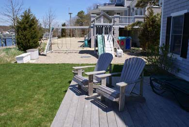 Mashpee Cape Cod vacation rental - Deck and play area