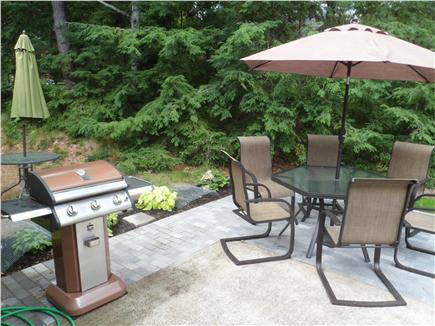 Yarmouthport Cape Cod vacation rental - Private back deck with gas grill