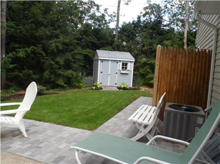 Yarmouthport Cape Cod vacation rental - Private back yard with outdoor shower and a shed for storage
