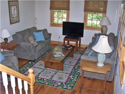 Chatham Cape Cod vacation rental - Living Rm has Hi Def Cable box with 37'' Vizio Flat Screen TV