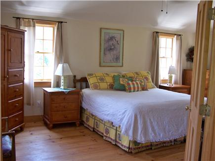 Chatham Cape Cod vacation rental - Master bedroom with KING bed, tray ceiling & ceiling fan