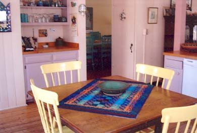 Wellfleet Cape Cod vacation rental - Kitchen table center of everything