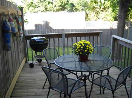 Falmouth Cape Cod vacation rental - Deck from Dining Room
