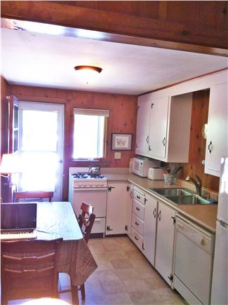 East Orleans - Nauset Heights Cape Cod vacation rental - Kitchen, dishwasher,microwave, gas stove/oven
