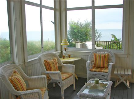 Popponesset Beach - Mashpee Cape Cod vacation rental - Read a book or just enjoy the view on screened-in porch