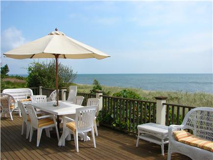 Popponesset Beach - Mashpee Cape Cod vacation rental - Panoramic ocean views from deck, space for dining and relaxing