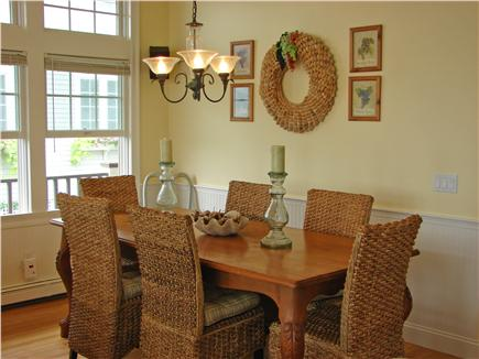 Popponesset Beach - Mashpee Cape Cod vacation rental - New dining room furniture with seating for eight