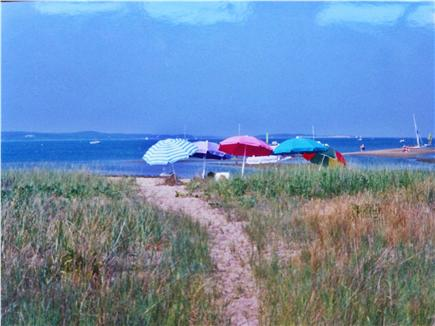 Chatham Cape Cod vacation rental - Family Gathering on Pleasant Bay Beach, just 1/2 mile away