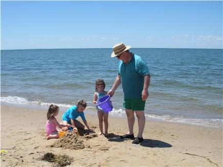 North Eastham Cape Cod vacation rental - Fun with Papa at the beach
