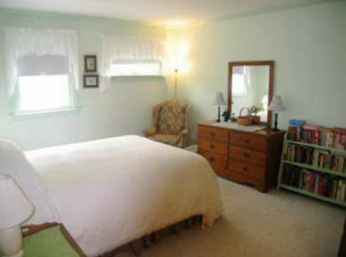North Eastham Cape Cod vacation rental - Bedroom 1-new queen bed, ceiling fan, AC and TV