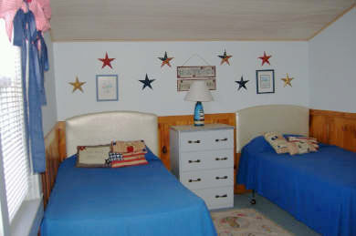 Dennis Port Cape Cod vacation rental - Both twin and double bedrooms have AC and ceiling fans