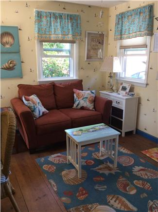 Dennisport Cape Cod vacation rental - Bright comfortable living room with flat screen TV