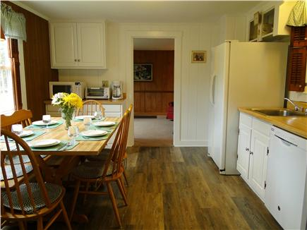 West Yarmouth crowell and seag Cape Cod vacation rental - Kitchen area facing living room