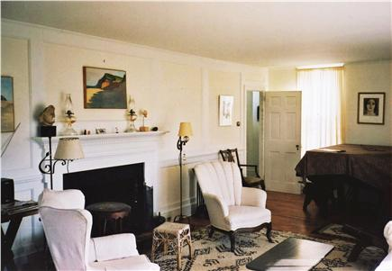 Wellfleet (National Seashore) Cape Cod vacation rental - Living Room with Working Fireplace & Grand Piano
