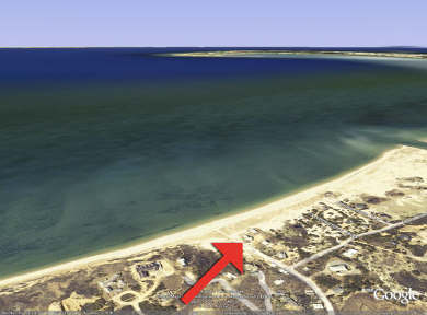 Fisher Beach, Truro, Cape Cod Cape Cod vacation rental - Satellite View of Fisher Beach/ P'town across bay on upper right