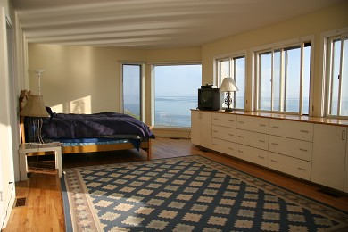 North Truro Cape Cod vacation rental - Bedroom offers wonderful waterviews