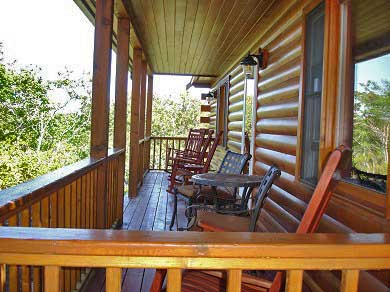Provincetown Cape Cod vacation rental - Four oversized rocking chairs overlook Shankpainter Pond